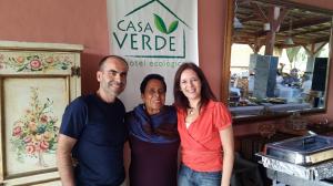 Javier Baz Rocio Mirada y Susana Baca Restaurante Lomo de Mar en Casa Verde Hotel Ecologico
